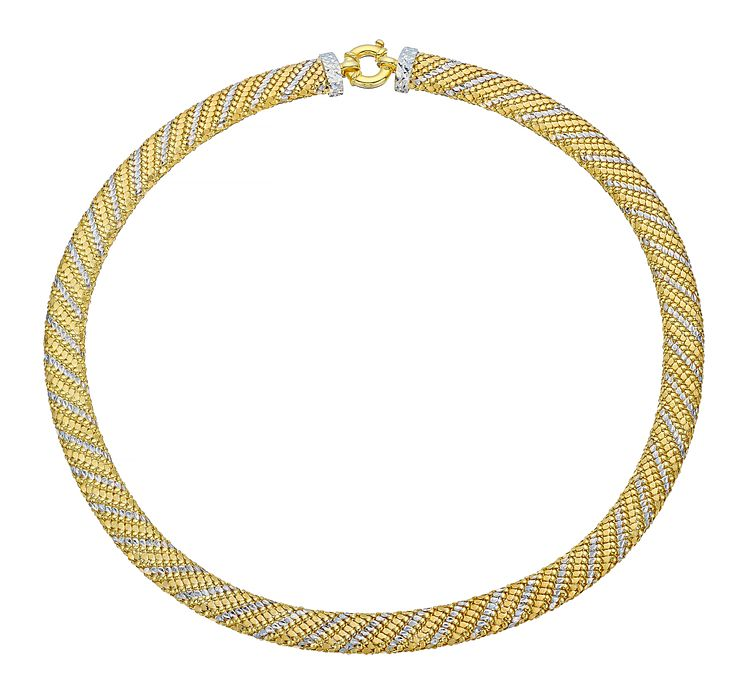 9ct gold & rhodium-plated necklet - Product number 3667251