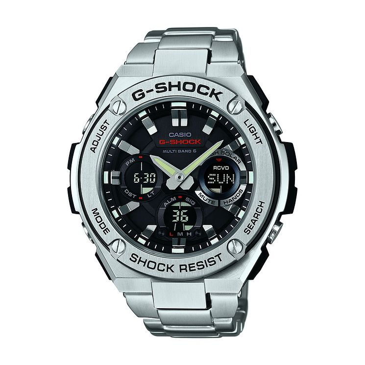 G-Shock Black Dial Stainless Steel Bracelet Watch - Product number 3671011