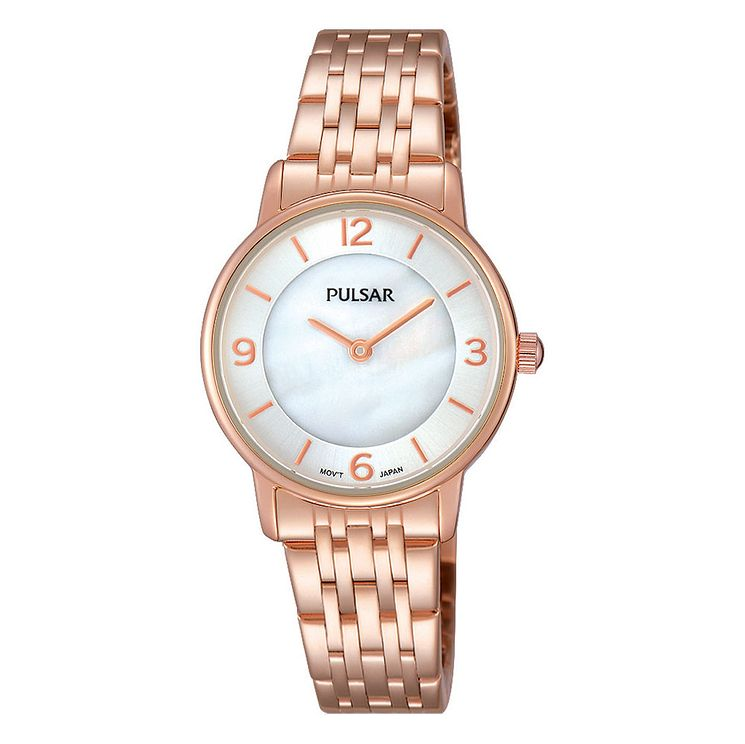 Pulsar Ladies' Rose Gold-Plated Bracelet Watch - Product number 3671216