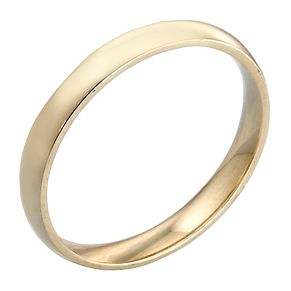 9ct Yellow Gold 3mm Extra Heavy Court Ring - Product number 3671402