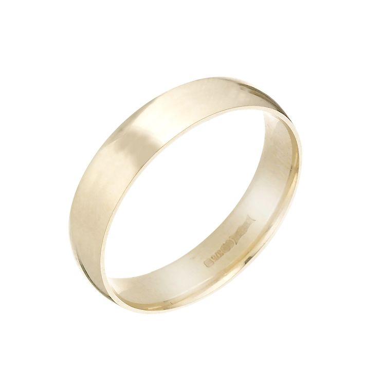 9ct Yellow Gold 5mm Extra Heavy D Shape Ring - Product number 3671518