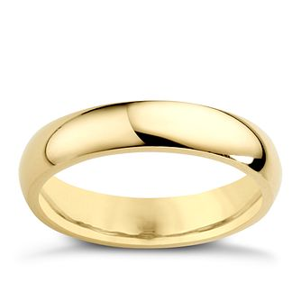 9ct Yellow Gold 4mm Super Heavy Court Ring - Product number 3671577