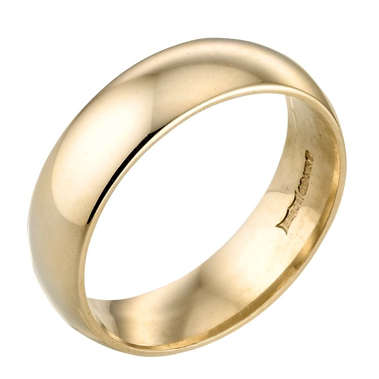 9ct Yellow Gold 6mm Super Heavy Court Ring