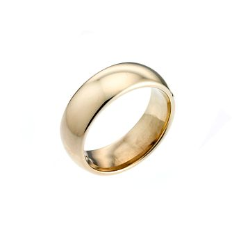 9ct Yellow Gold 7mm Super Heavy Court Ring - Product number 3671674
