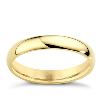 18ct Yellow Gold 3mm Extra Heavy D Shape Ring - Product number 3672026