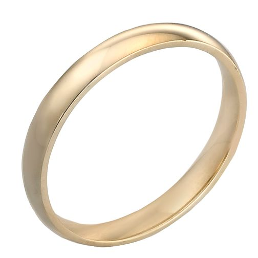 18ct Yellow Gold 3mm Extra Heavy Court Ring - Product number 3672085