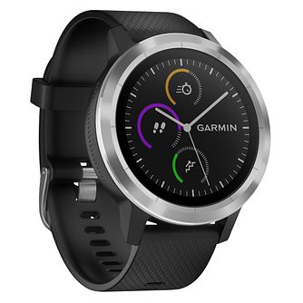 Garmin Vivoactive 3 Black Silicone Strap Smartwatch - Product number 3679462
