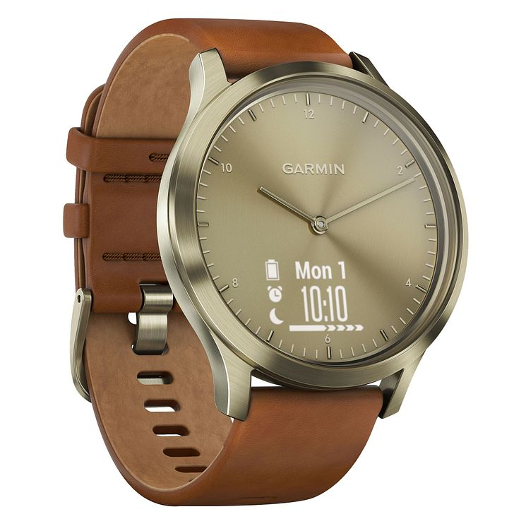 Garmin Ladies' Tan Leather Strap Smartwatch - Product number 3679519