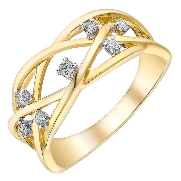 9ct gold diamond ring - Product number 3703584