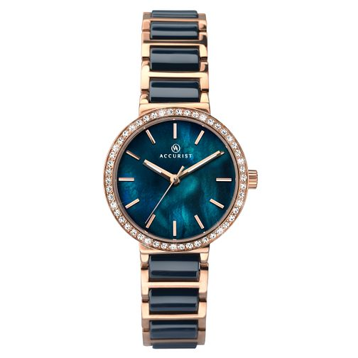 Accurist Ladies' Two Colour Ceramic Bracelet Watch - Product number 3709116