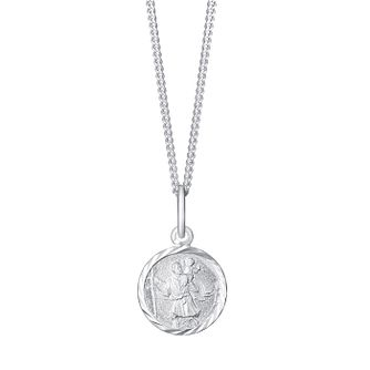 Necklaces hmuel sterling silver small round st christopher pendant product number 3716627 mozeypictures Gallery