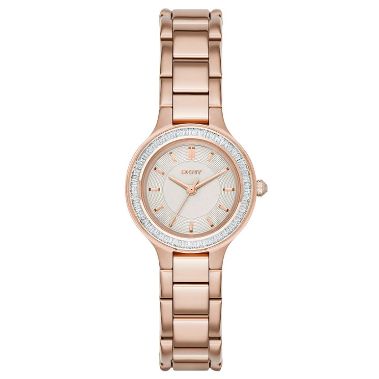 Dkny Chambers Ladies' Rose Gold Tone Bracelet Watch - Product number 3720659