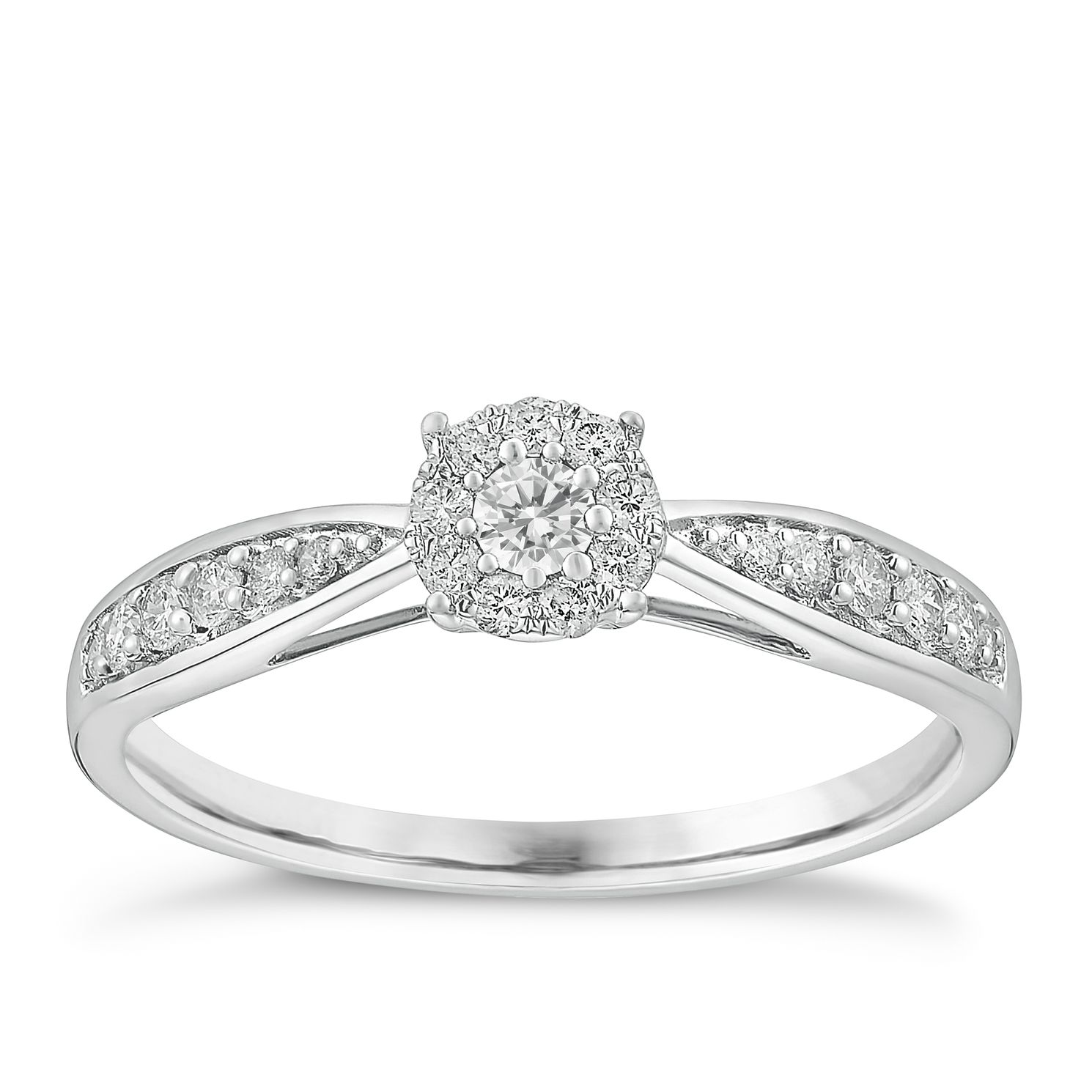 square halo ring platinum deco diamond rings