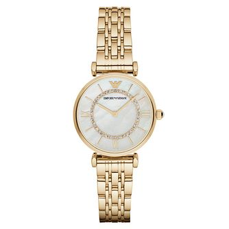 Emporio Armani Ladies' Mother Of Pearl Bracelet Watch - Product number 3724298