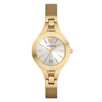 Emporio Armani Ladies' Gold Tone Bracelet Watch - Product number 3724417
