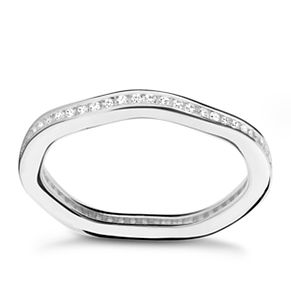 Chamilia Tranquillity sterling silver cubic zirconia ring XS - Product number 3725871