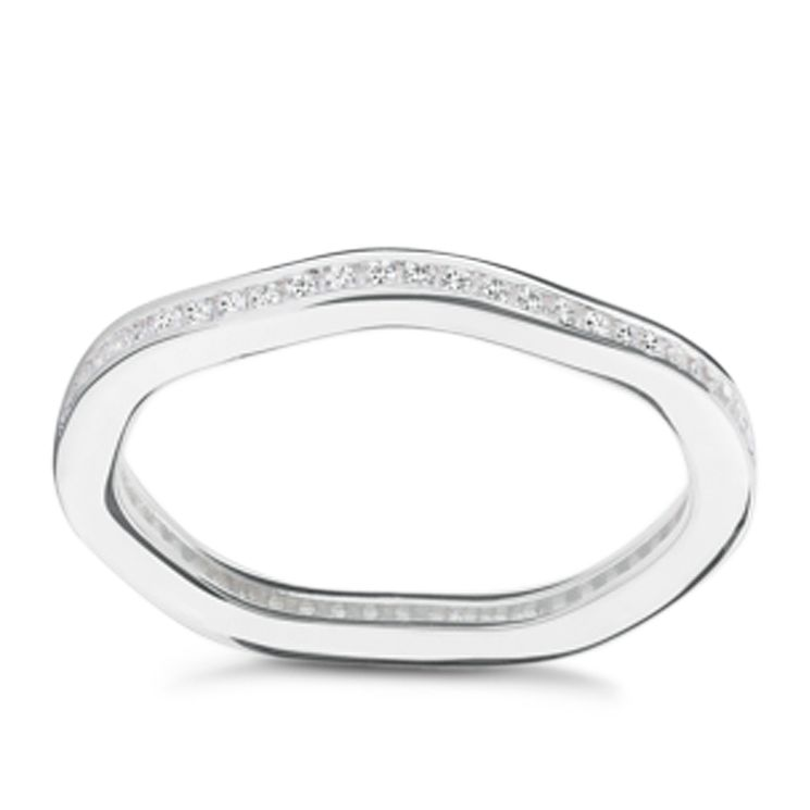 Chamilia Tranquillity sterling silver cubic zirconia ring XL - Product number 3725901
