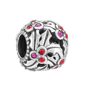 Chamilia Holly Jolly Siam & Fuchsia Swarovski Elements Bead - Product number 3727831