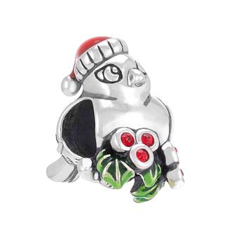 Chamilia Sterling Silver Merry Berry Birdie Crystal Bead - Product number 3728129