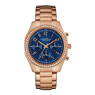 Caravelle New York Ladies' Rose Gold-Plated Bracelet Watch - Product number 3728366