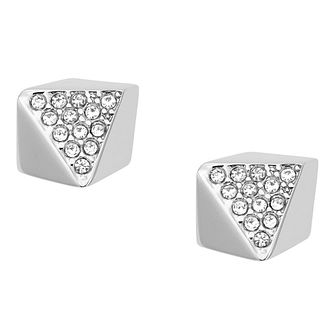 Fossil Glitz stainless steel stone set stud earrings - Product number 3729788