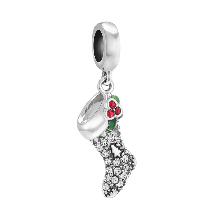 Chamilia Silver Sparkling Stocking Swarovski Crystal Bead - Product number 3731820