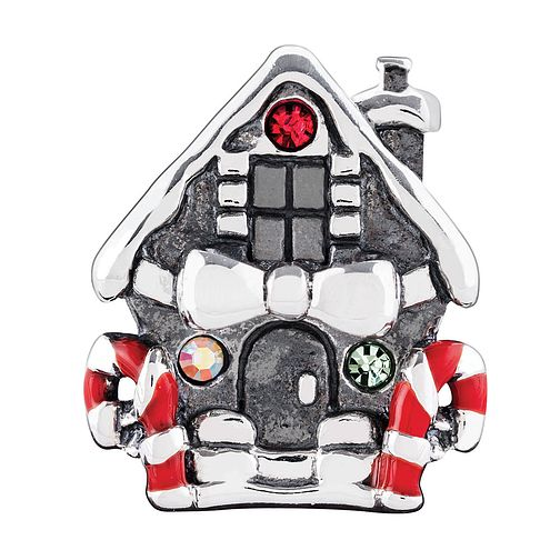 Chamilia Silver Gingerbread House Swarovski Elements Bead - Product number 3731863
