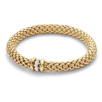 Fope Love Nest 18ct gold bracelet with diamond rondelle - Product number 3732258