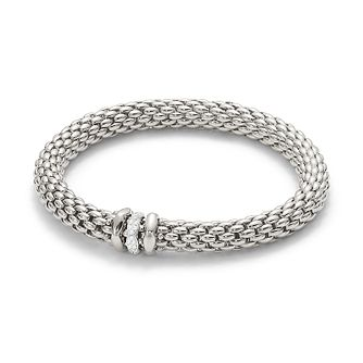 Fope Love Nest 18ct white gold diamond rondelle bracelet - Product number 3732274