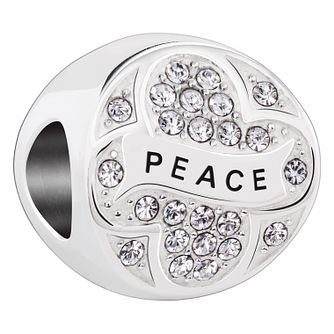Chamilia Peace On Earth sterling silver Swarovski charm - Product number 3732568