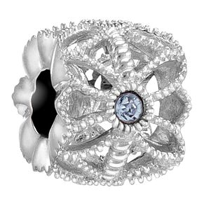 Chamilia Sea Flower sterling silver & Swarovski charm - Product number 3732592