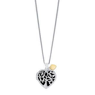 "Sterling Silver & 9ct Gold Tree Of Life Desgin 18"" Locket - Product number 3733173"