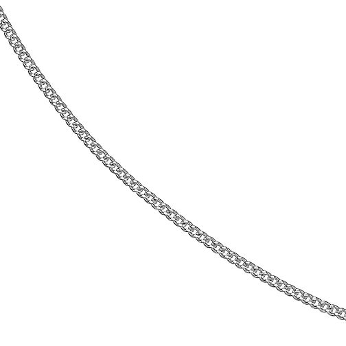 Sterling Silver Adjustable Curb Chain Necklace - Product number 3738027