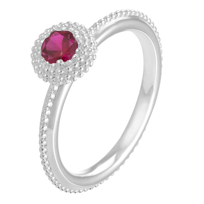 Chamilia Soiree sterling silver January birthstone ring L - Product number 3743497