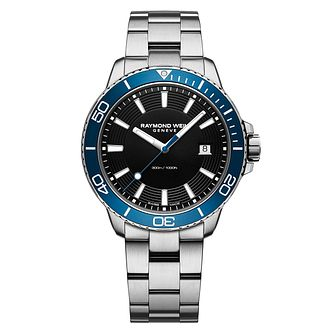 Raymond Weil Tango Men's Blue Bezel Bracelet Watch - Product number 3749371