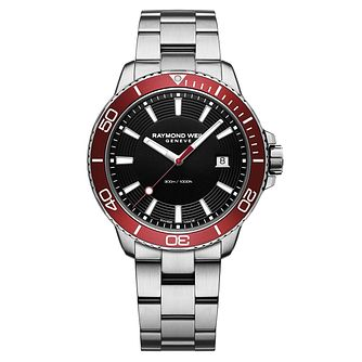 Raymond Weil Tango Men's Red Bezel Bracelet Watch - Product number 3749401