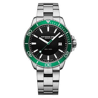 Raymond Weil Tango Men's Green Bezel Bracelet Watch - Product number 3749843