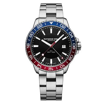 Raymond Weil Tango GMT Men's Blue and Red Watch - Product number 3749851