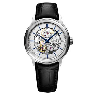 Raymond Weil Maestro Men's Skeleton Strap Watch - Product number 3749886