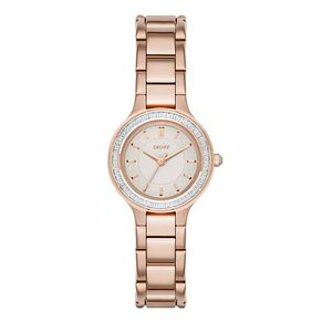 DKNY Ladies' Mother Of Pearl Rose Gold-Plated Bracelet Watch - Product number 3750302
