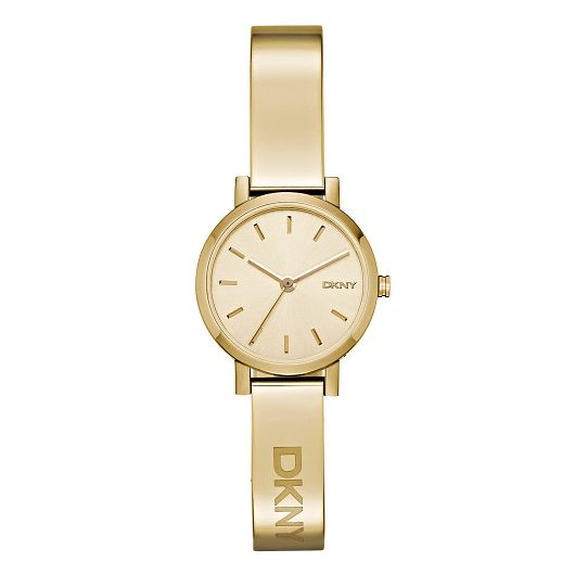 DKNY Ladies' Gold Dial Gold-Plated Bangle Watch - Product number 3750337