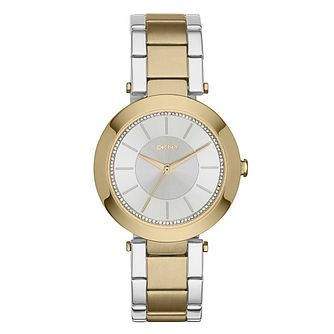 DKNY Ladies' Two Colour Stainless Steel Bracelet Watch - Product number 3750345
