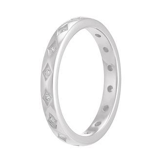 Chamilia Sterling Silver Starry Eyed Stacking Ring Medium - Product number 3755231