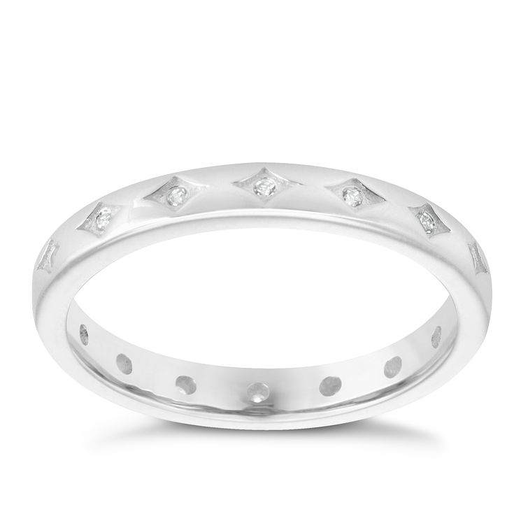 Chamilia Sterling Silver Starry Eyed Stacking Ring Large - Product number 3755258
