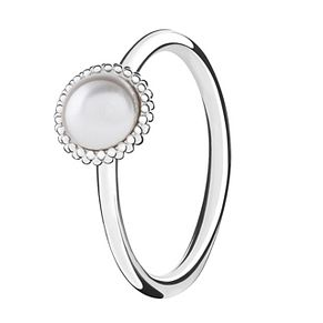Chamilia Silver Wisdom Swarovski Pearl Stacking Ring XS - Product number 3756386
