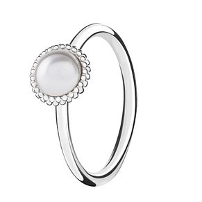 Chamilia Silver Wisdom Swarovski Pearl Stacking Ring XL - Product number 3756394