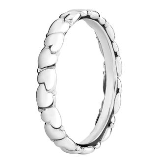 Chamilia Silver Everlasting Heart Stacking Ring Extra Large - Product number 3756580