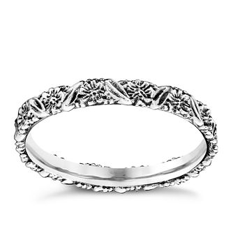Chamilia Silver Harmony Floral Stacking Ring XS - Product number 3756599