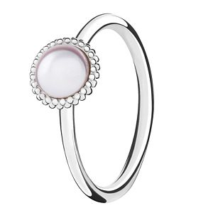 Chamilia Silver Wisdom Swarovski Pearl Stacking Ring XS - Product number 3756696