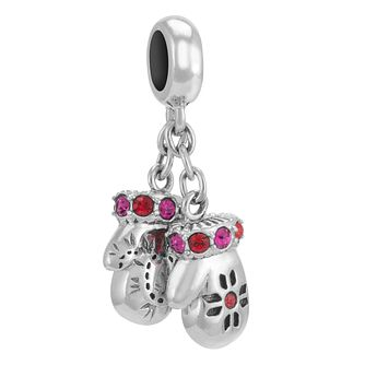 Chamilia Sterling Silver Stone Set Mittens Charm Bead - Product number 3756971
